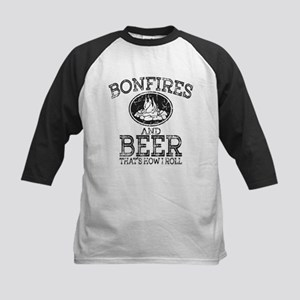 Bonfires And Beer That's How I Rol Baseball Jersey
