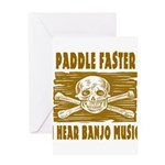 Paddle Faster 5 Greeting Card
