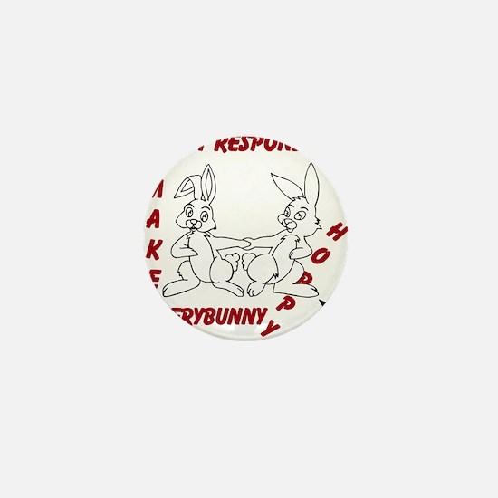 Adopt Rabbit Responsibly Mini Button