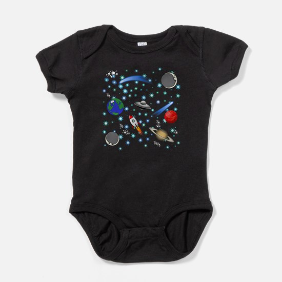 Kids Galaxy Universe Illustrations Body Suit