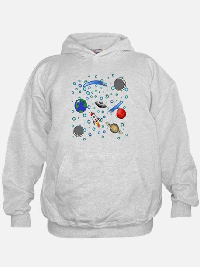 Kids Galaxy Universe Illustrations Sweatshirt