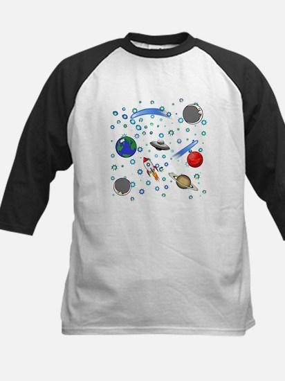 Kids Galaxy Universe Illustrations Baseball Jersey