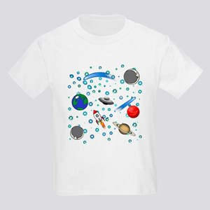 Kids Galaxy Universe Illustrations T-Shirt