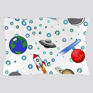 Kids Galaxy Universe Illustrations Pillow Case