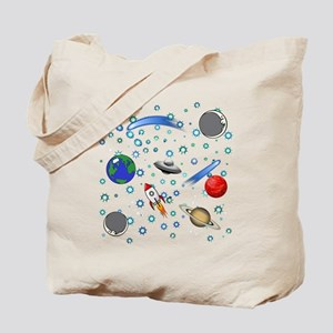 Kids Galaxy Universe Illustrations Tote Bag
