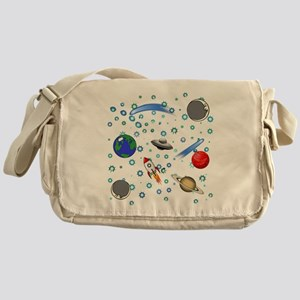 Kids Galaxy Universe Illustrations Messenger Bag