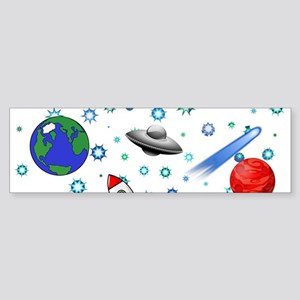 Kids Galaxy Universe Illustrations Bumper Sticker