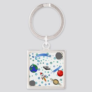 Kids Galaxy Universe Illustrations Keychains