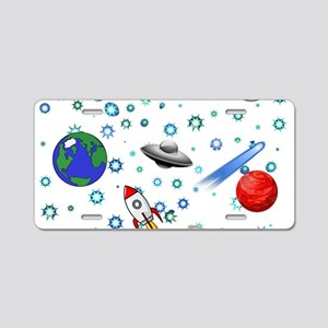 Kids Galaxy Universe Illust Aluminum License Plate