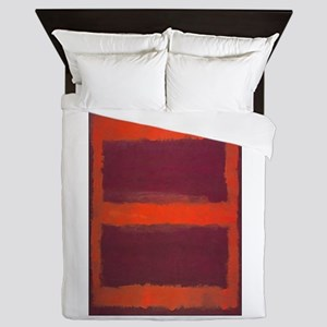 ROTHKO ORANGE MAROON 22 Queen Duvet