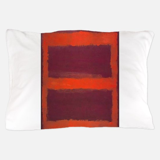 ROTHKO ORANGE MAROON 22 Pillow Case