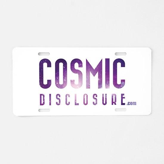 CosmicDisclosure.com Aluminum License Plate