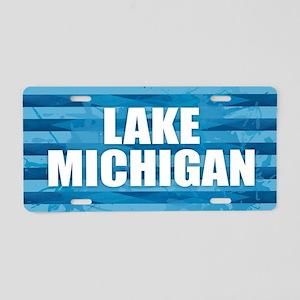 Lake Michigan Aluminum License Plate
