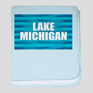 Lake Michigan baby blanket