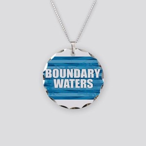Boundary Waters Necklace Circle Charm