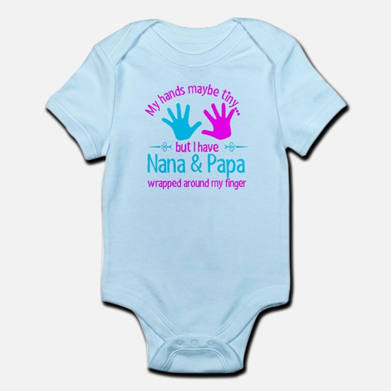 My Hands Maybe Tiny But I Have Nana & Pa Body Suit