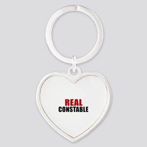 Real Constable Heart Keychain