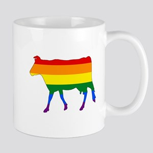 Rainbow Cow Mugs