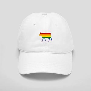 Rainbow Cow Cap