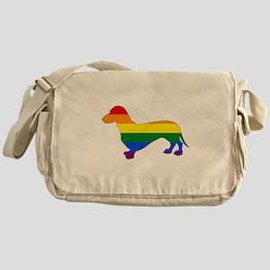 Rainbow Dachshund Messenger Bag