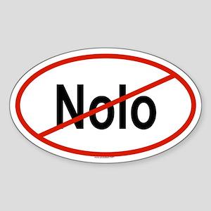 NOLO Oval Sticker