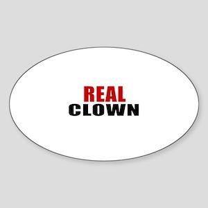 Real Clown Sticker (Oval)