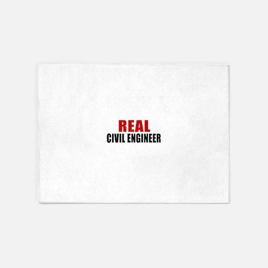 Real Civil engineer 5'x7'Area Rug