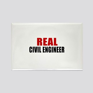 Real Civil engineer Rectangle Magnet
