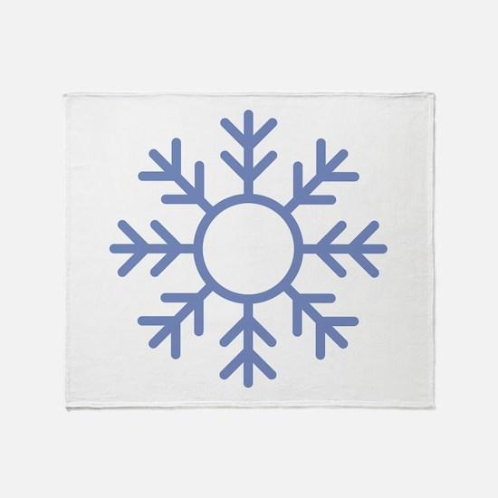 Blue Snowflake Ornament Throw Blanket
