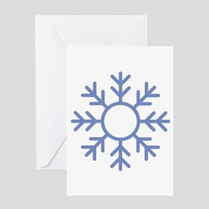 Blue Snowflake Ornament Greeting Cards