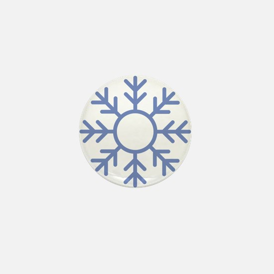 Blue Snowflake Ornament Mini Button