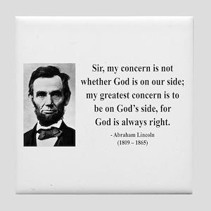 Abraham Lincoln 3 Tile Coaster