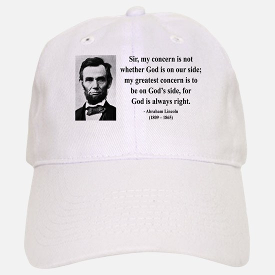 Abraham Lincoln 3 Baseball Baseball Cap