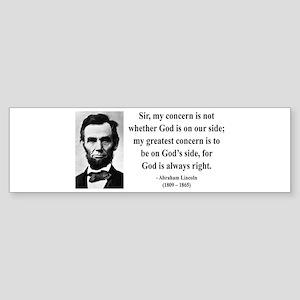Abraham Lincoln 3 Bumper Sticker
