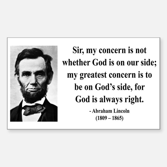 Abraham Lincoln 3 Rectangle Decal