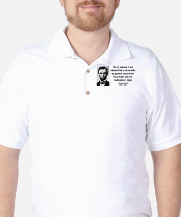 Abraham Lincoln 3 Golf Shirt