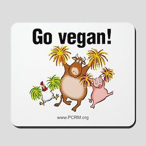 Go Vegan! Cheer Mousepad