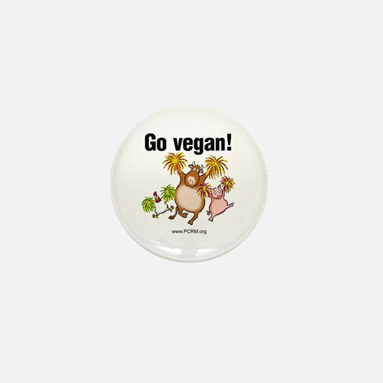 Go Vegan! Cheer Mini Button