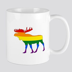 Rainbow Moose Mugs