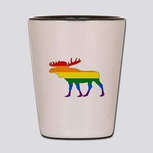 Rainbow Moose Shot Glass