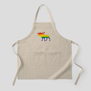 Rainbow Moose Apron