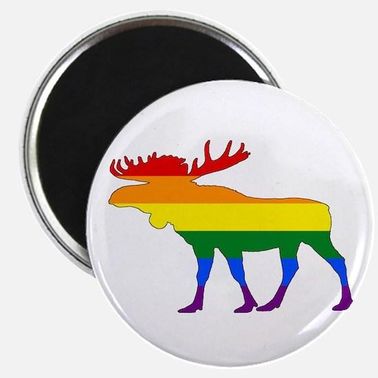 Rainbow Moose Magnets