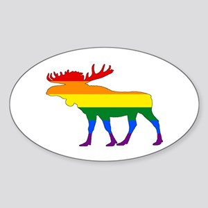 Rainbow Moose Sticker