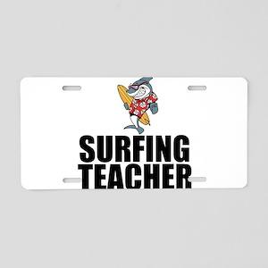 Surfing Teacher Aluminum License Plate