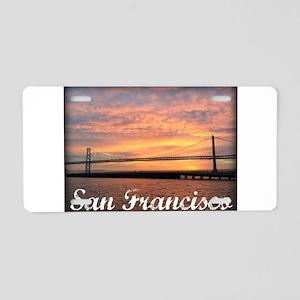 Sunrise Over The Golden Gate Bridge Aluminum Licen