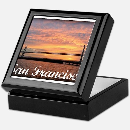 Sunrise Over The Golden Gate Bridge Keepsake Box
