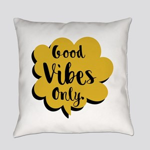 Good Vibes Only Speech Bubble Everyday Pillow