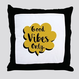 Good Vibes Only Speech Bubble Throw Pillow