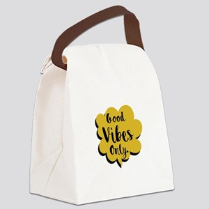 Good Vibes Only Speech Bubble Canvas Lunch Bag