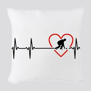 i love lawn bowls Woven Throw Pillow